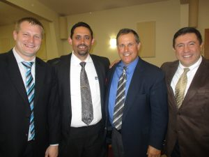 Great men of God!!  Pastor Cammillerri in the blue shirt, his son-in-law in the striped blue tie, and Mr. Pinzone in the brown suit.  David is thankful for these godly men's friendships!