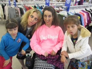 """We had SO much fun!  It was only Amy's second time to really go """"joy shopping"""" since the accident.  She melted my heart as she tried SO hard to sift through the clothing racks.........all done with a smile on her face!  Amy has had to learn SO much patience as she has to wait on so many other people to do small menial tasks for her.  I see her sweet spirit through it all and it inspires me to tears!!  I LOVE YOU, sweet Amy!!"""