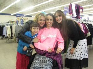 Amy enjoyed shopping, once again, for her children and their needs & for items they needed in their home.