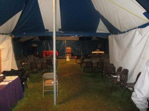This is the tent the mtgs. were held in.