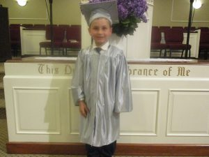 This is Jordan and Angie's 3rd child - Preston.  The day we picked our children up from the Hillegass' home, Preston was graduation from homeschool kindergarten at a homeschool support group at their church.  We were excited to attend.