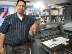 "David has enjoyed getting more and more jobs in our - Äll Things Truth Print Shop""."