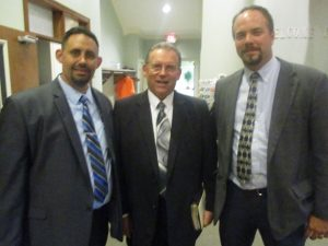 On to the next church - Open Door Baptist Church with Pastor Butterfield (pictured in the middle).