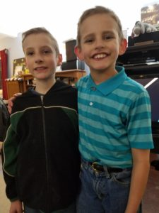 Gunnar Foster (left) and Gabriel Rodrigues (right). Sweet cousins - only 6 days apart in age.