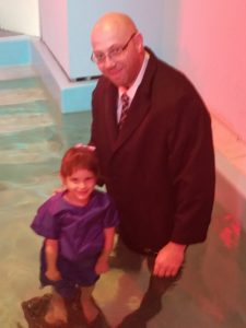 Olivia got saved on Mother's Day of last year and then she got baptized this past November.  She was so excited!