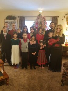 Rodrigues Family at Christmas time.